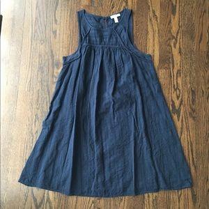 Liz Maternity Navy Blue Cotton Dress Medium